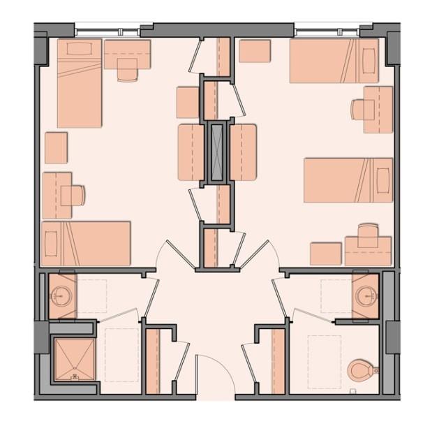 semi-sute room layout